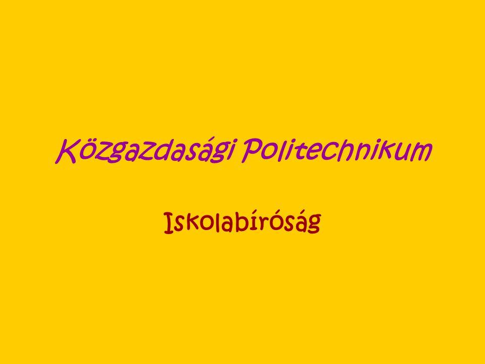Közgazdasági Politechnikum Iskolabíróság
