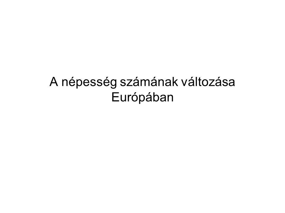 A népesség számának változása Európában