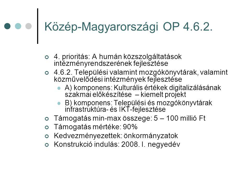 Közép-Magyarországi OP 4.6.2. 4.