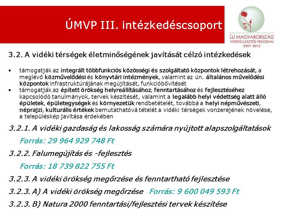 ÚMVP III. intézkedéscsoport 3.2.