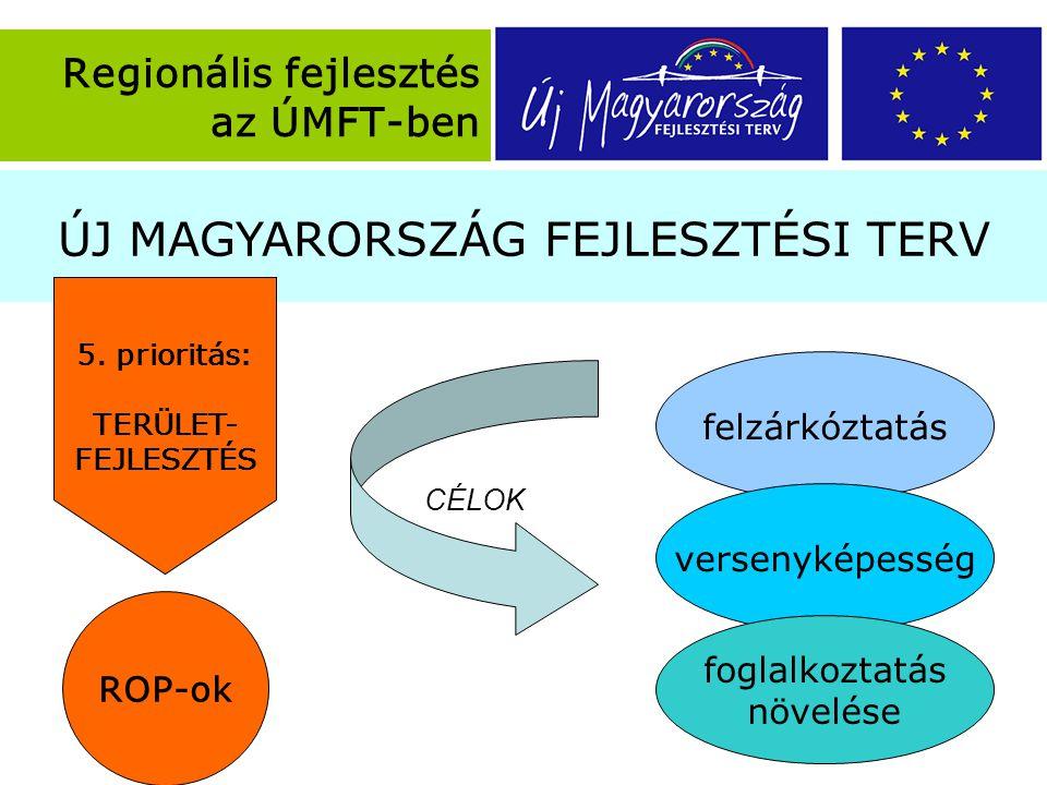 ÚJ MAGYARORSZÁG FEJLESZTÉSI TERV Regionális fejlesztés az ÚMFT-ben 5.