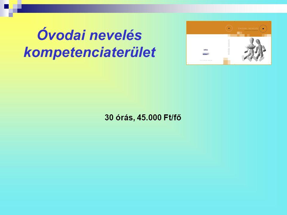 Óvodai nevelés kompetenciaterület 30 órás, 45.000 Ft/fő