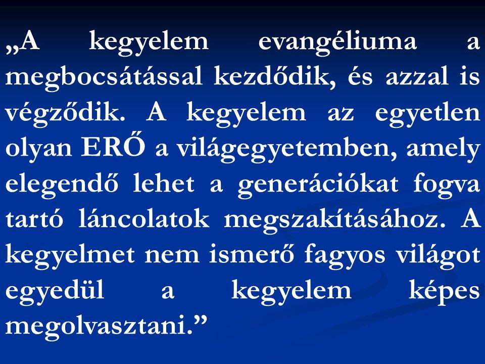 """""""A kegyelem evangéliuma a megbocsátással kezdődik, és azzal is végződik. A kegyelem az egyetlen olyan ERŐ a világegyetemben, amely elegendő lehet a ge"""