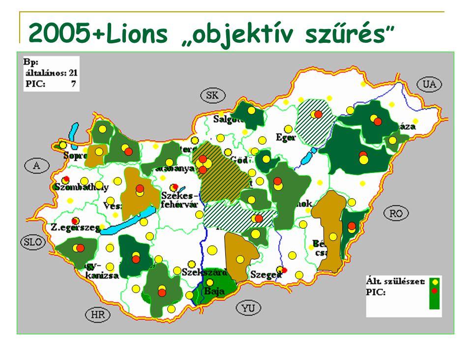 """2005+Lions """"objektív szűrés """""""