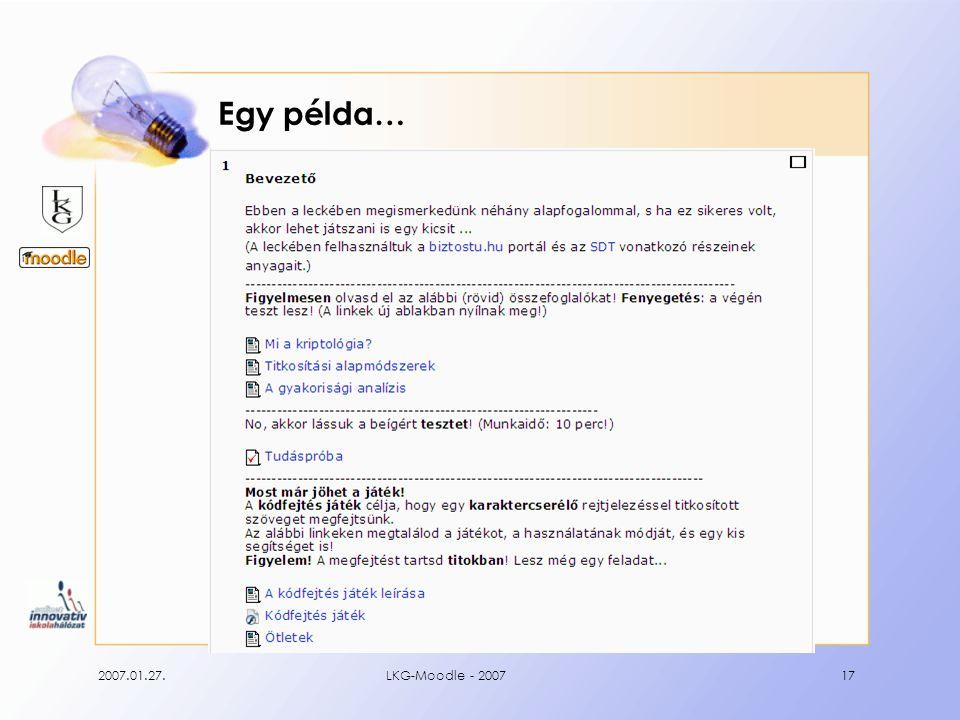 2007.01.27.LKG-Moodle - 200717 Egy példa…