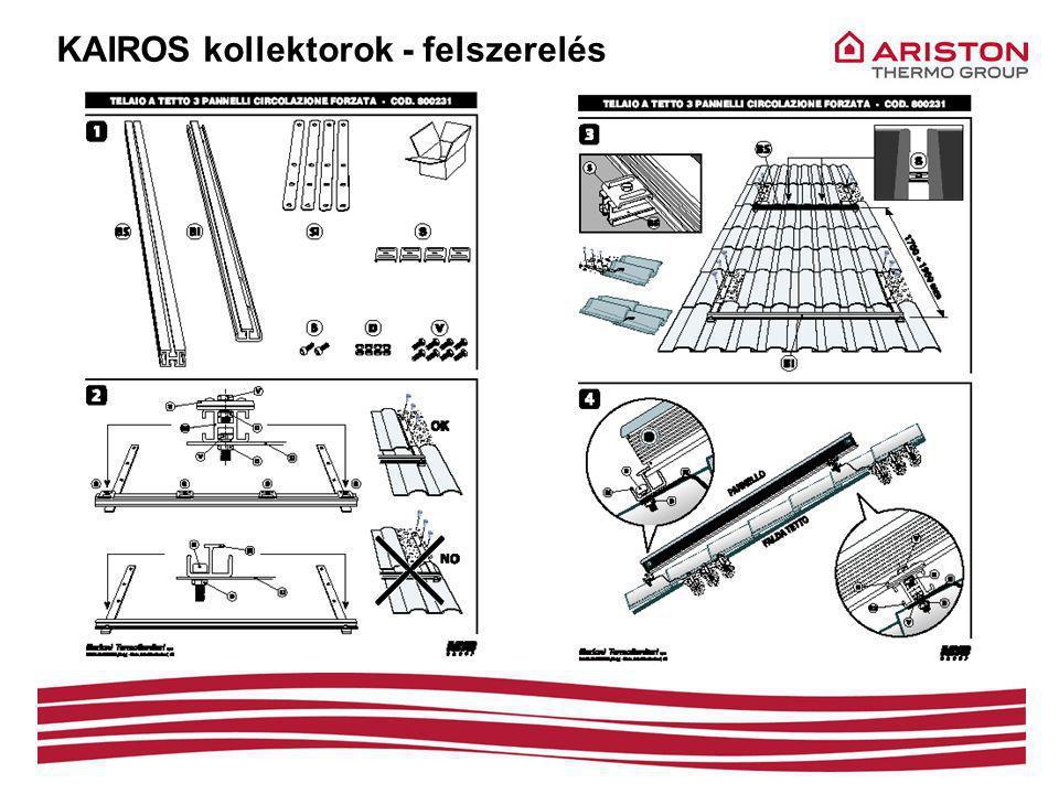 KAIROS kollektorok - felszerelés