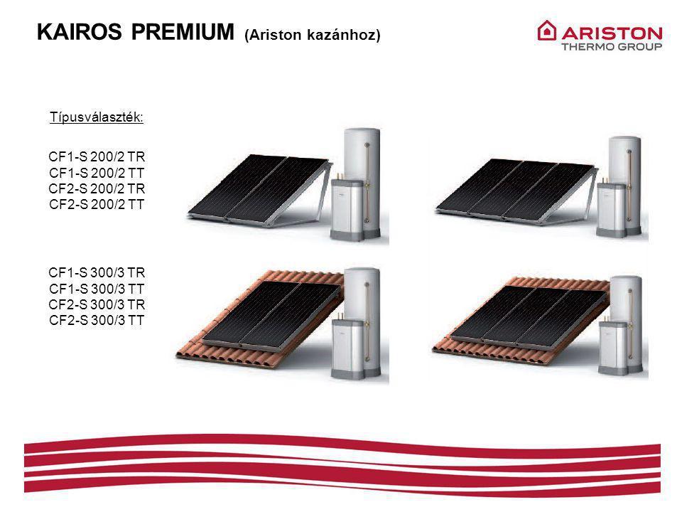 KAIROS PREMIUM (Ariston kazánhoz) Típusválaszték: CF1-S 200/2 TR CF1-S 200/2 TT CF2-S 200/2 TR CF2-S 200/2 TT CF1-S 300/3 TR CF1-S 300/3 TT CF2-S 300/3 TR CF2-S 300/3 TT
