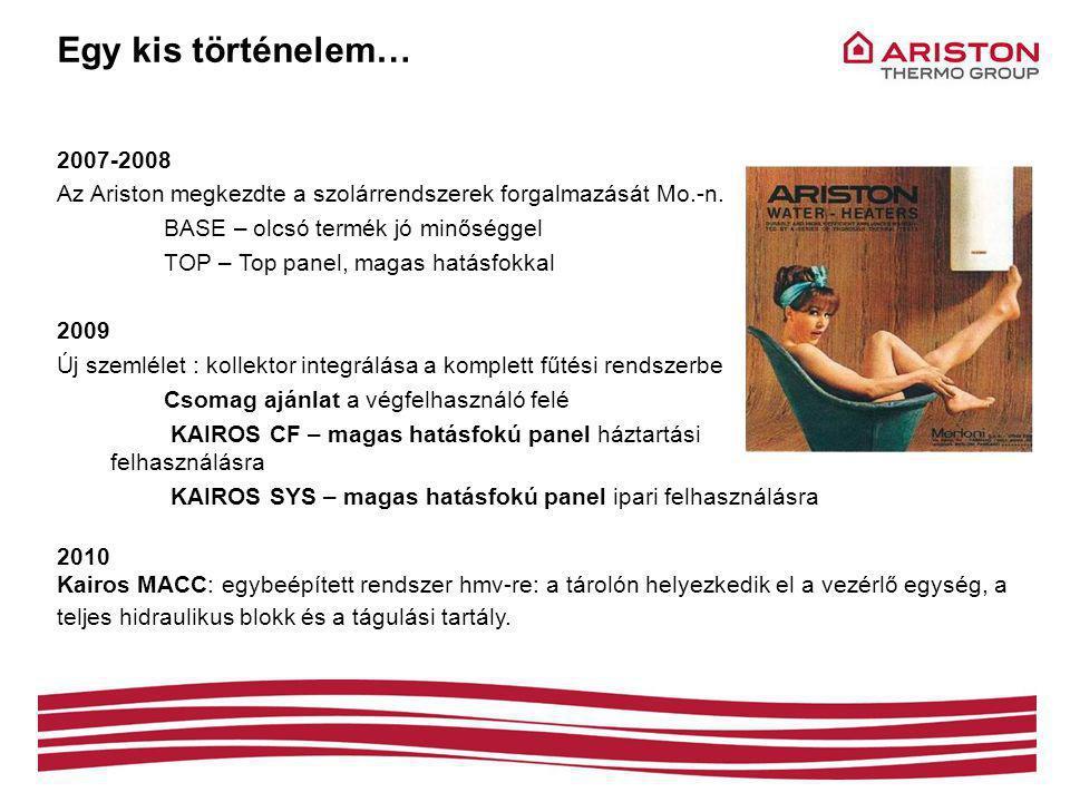 2007-2008 Az Ariston megkezdte a szolárrendszerek forgalmazását Mo.-n.