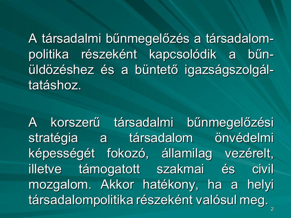 3 115/2003. (X. 28.) OGY határozat a társadalmi bűnmegelőzés nemzeti stratégiájáról stratégiájáról