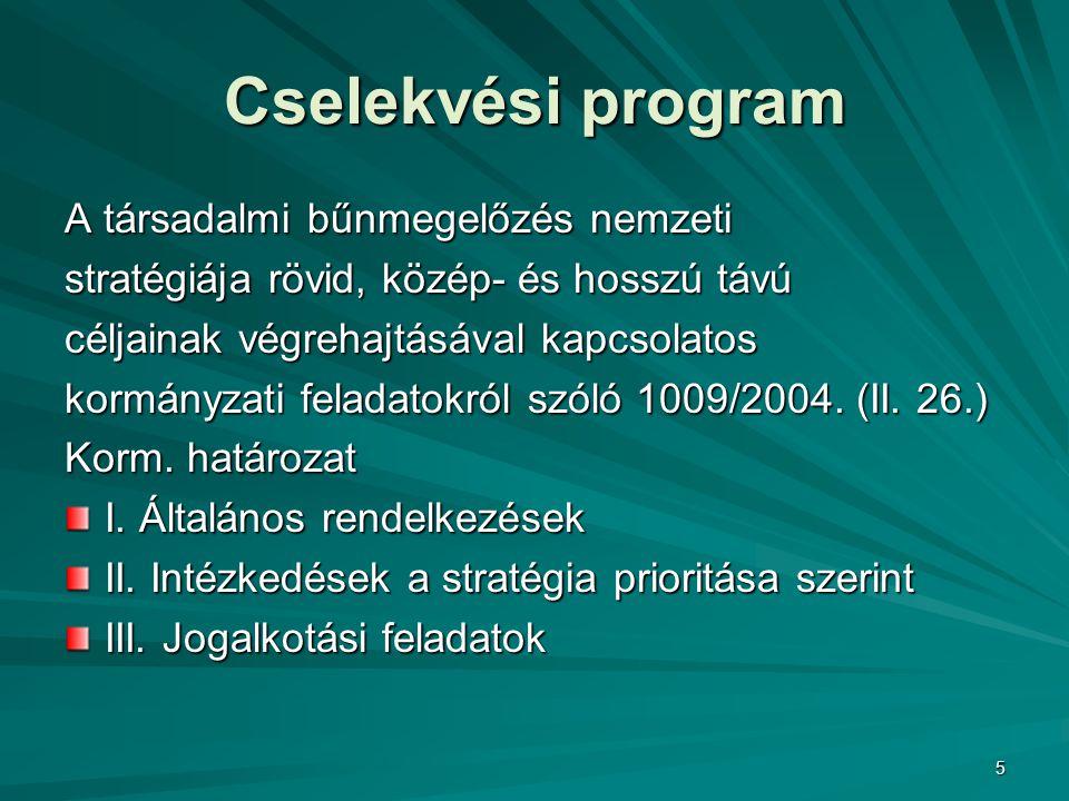 16 A Jelentés tapasztalatai alapján készítjük a stratégia 2005-ben és készítjük a stratégia 2005-ben és 2006-ban megvalósítandó cselekvési 2006-ban megvalósítandó cselekvési programját.