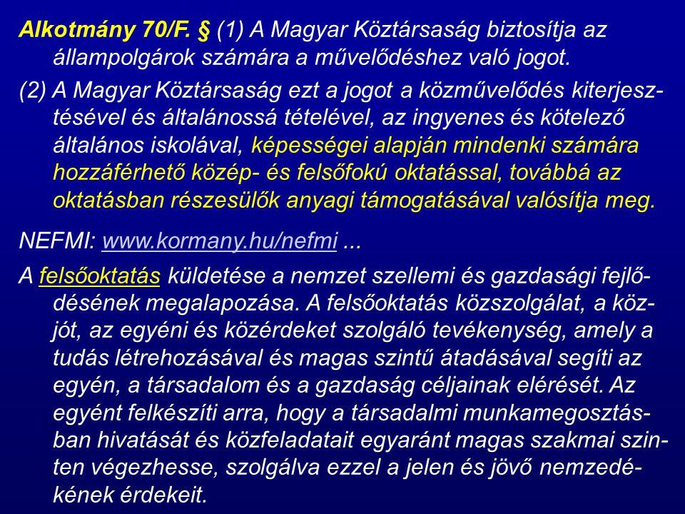 Alkotmány 70/F.