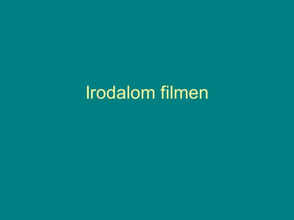 1. Bevezetés A mozi, a film jelentősége a 20. századi európai (amerikai) kultúrtörténetben