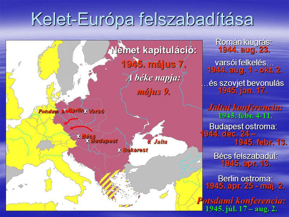 Kelet-Európa felszabadítása Román kiugrás: 1944.aug.