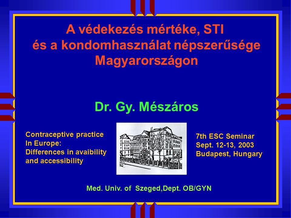 A védekezés mértéke, STI és a kondomhasználat népszerűsége Magyarországon Dr.