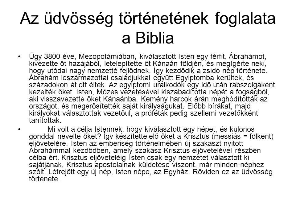 A Biblia: Isten üzenete, emberi szavakban A Biblia minden könyvét ember írta, egy vagy több ember.