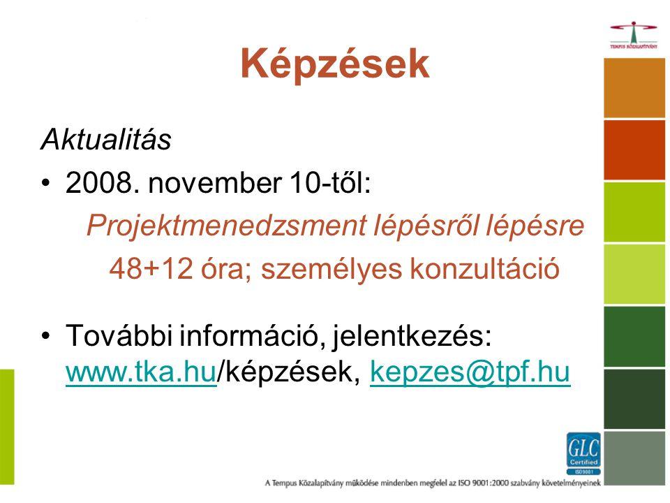 Képzések Aktualitás 2008.