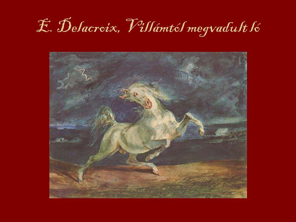 E. Delacroix, Villámtól megvadult ló
