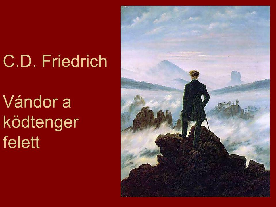 C.D. Friedrich Vándor a ködtenger felett