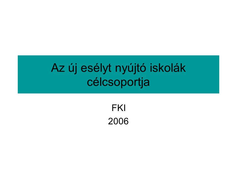 Az új esélyt nyújtó iskolák célcsoportja FKI 2006