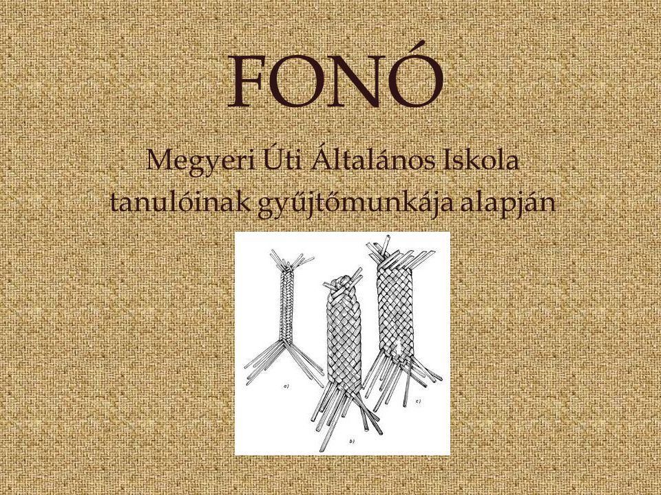 FONÓ Megyeri Úti Általános Iskola tanulóinak gyűjtőmunkája alapján