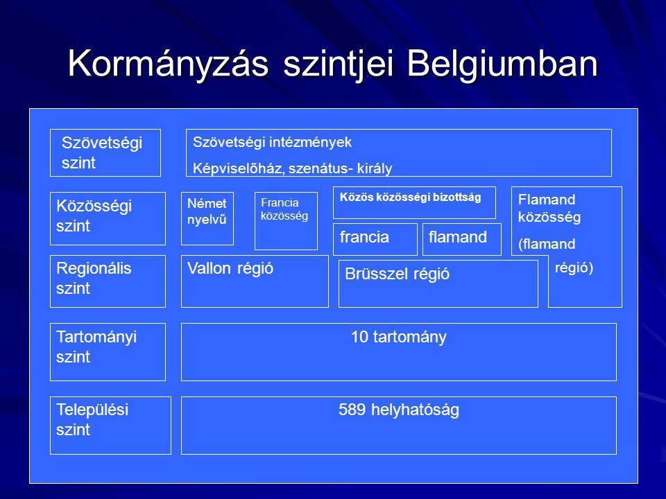 Központi szint alatti közigazgatás Tartományi főnökök és polgármesterek jogállása: - Központi kormány képviselői - Tartományi és községi végrehajtó szervek vezetői Tartományi szinten a kormánymegbízotti funkciókat a KORMÁNYZÓ látja el Felügyeletet ellátó szervek: - Regionális kormányzat - Tartományi képviselő- testület vagy a kormányzó Pénzügyi Ellenőrzési Hivatal Számvevőszék (ellenőrzi az állam, a közösségi, a regionális, a tartományi elszámolásokat)