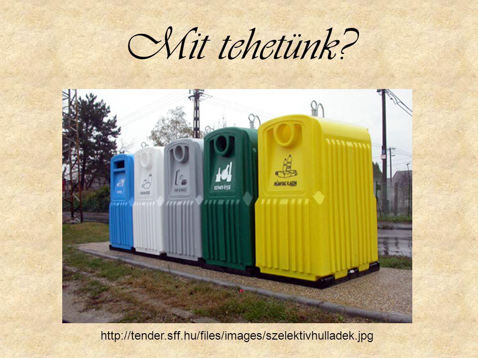 Mit tehetünk? http://tender.sff.hu/files/images/szelektivhulladek.jpg