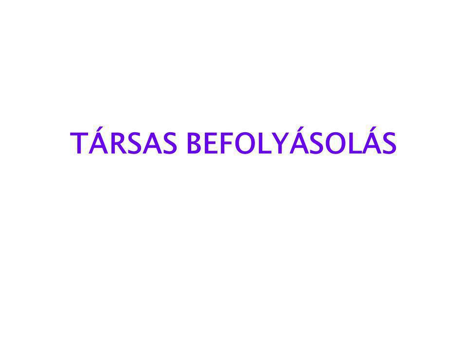 TÁRSAS BEFOLYÁSOLÁS