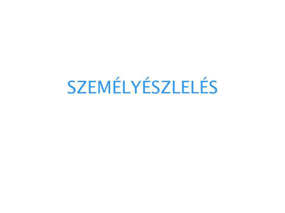 SZEMÉLYÉSZLELÉS