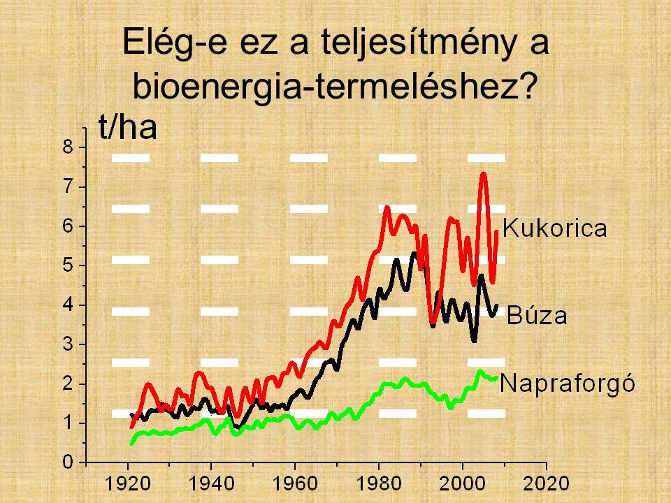 Elég-e ez a teljesítmény a bioenergia-termeléshez