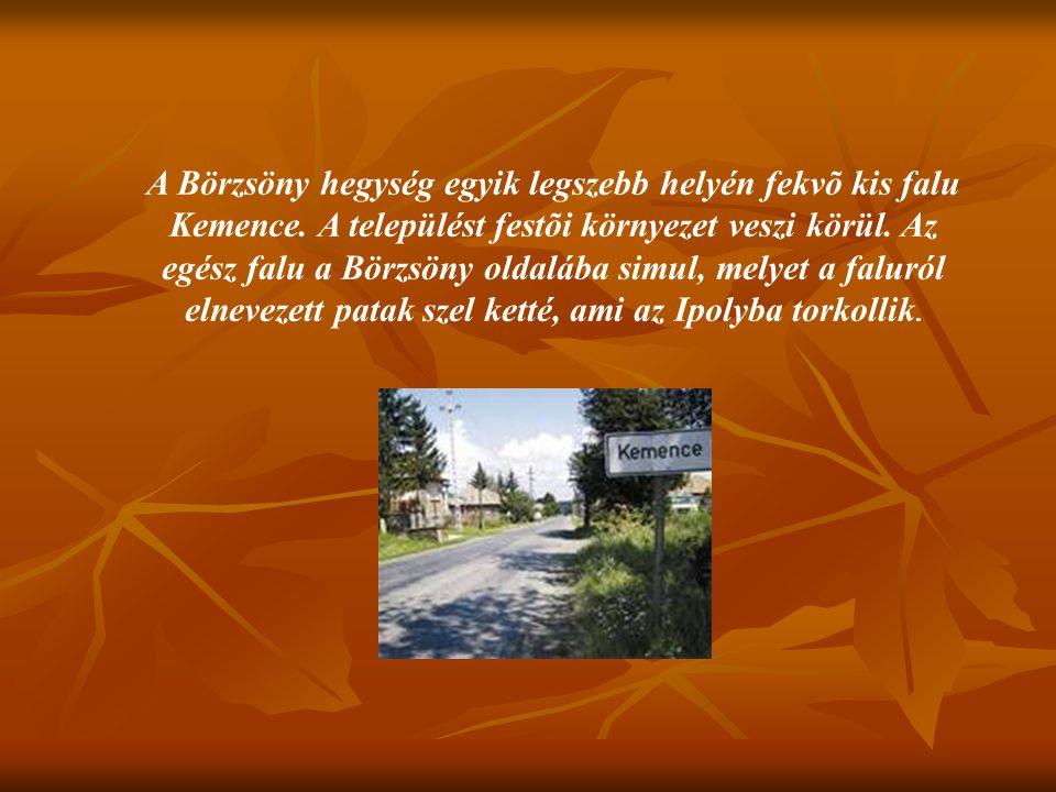 A Börzsöny hegység egyik legszebb helyén fekvõ kis falu Kemence. A települést festõi környezet veszi körül. Az egész falu a Börzsöny oldalába simul, m