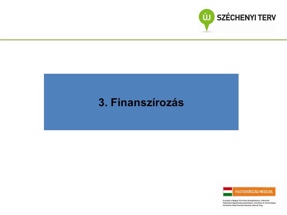 3. Finanszírozás