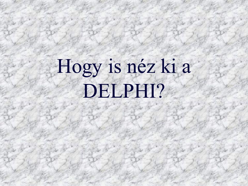 Hogy is néz ki a DELPHI?
