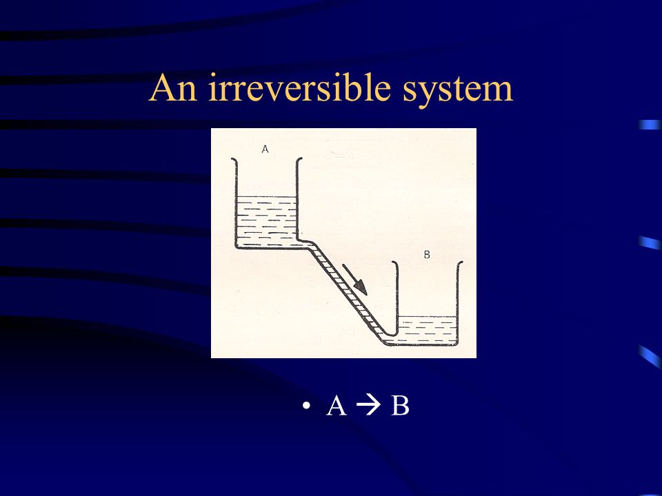 An irreversible system A  B