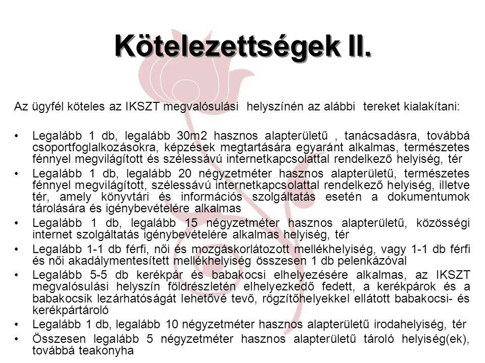 Kötelezettségek II.