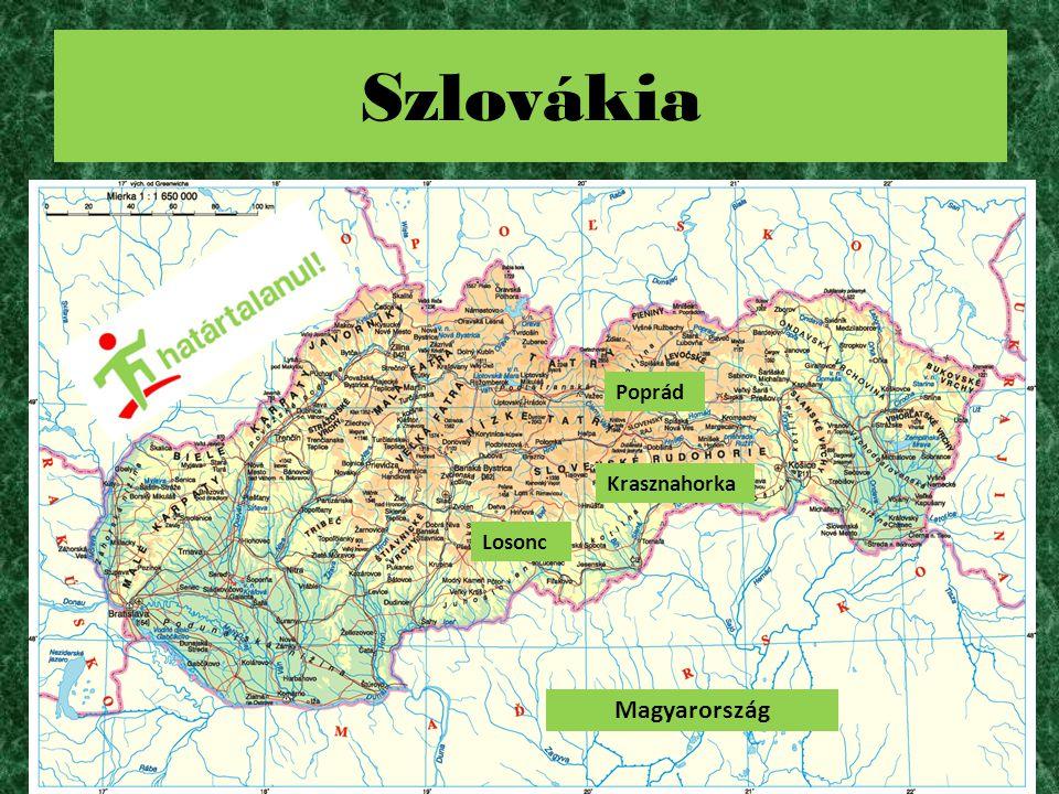 Szlovákia Losonc Poprád Krasznahorka Magyarország