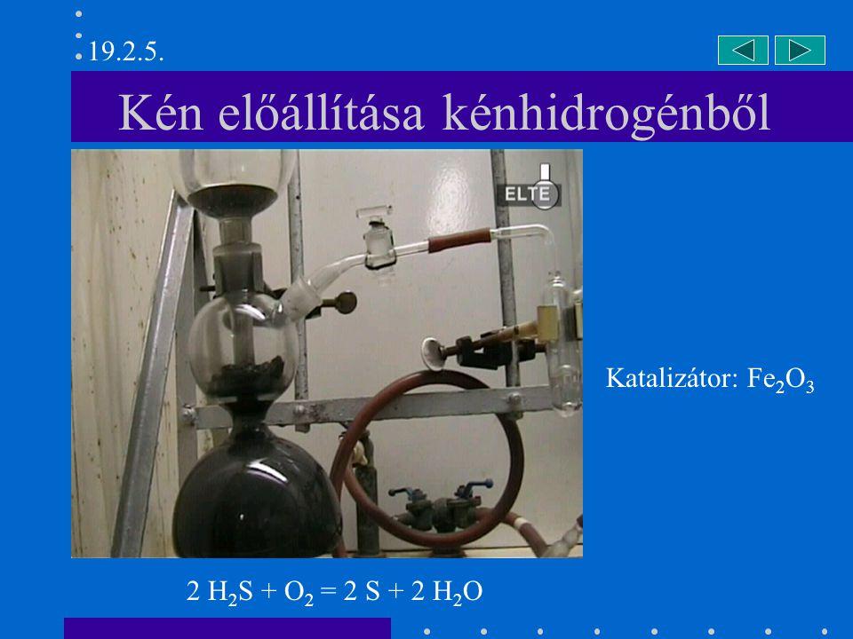 Szulfonil-diklorid előállítása (I) 19.4.4. SO 2 + Cl 2 = SO 2 Cl 2
