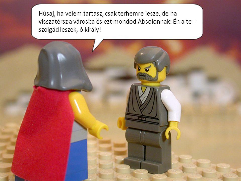 Húsaj, ha velem tartasz, csak terhemre lesze, de ha visszatérsz a városba és ezt mondod Absolonnak: Én a te szolgád leszek, ó király!