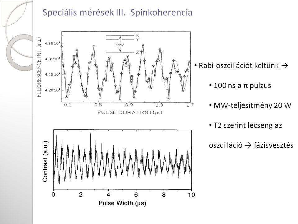Speciális mérések III.