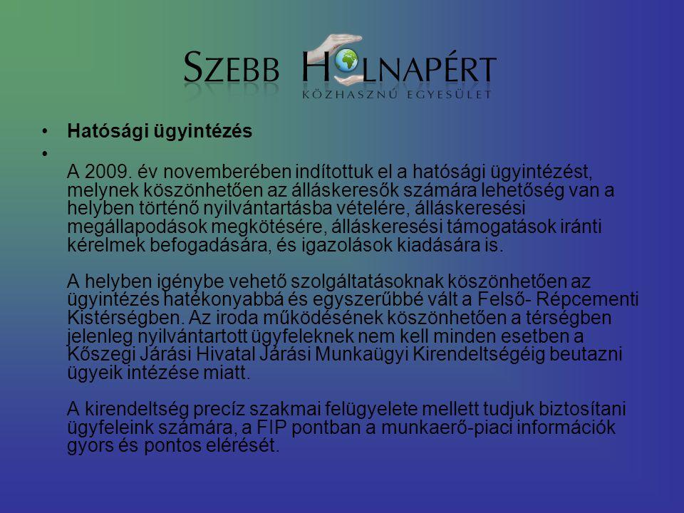 Hatósági ügyintézés A 2009.