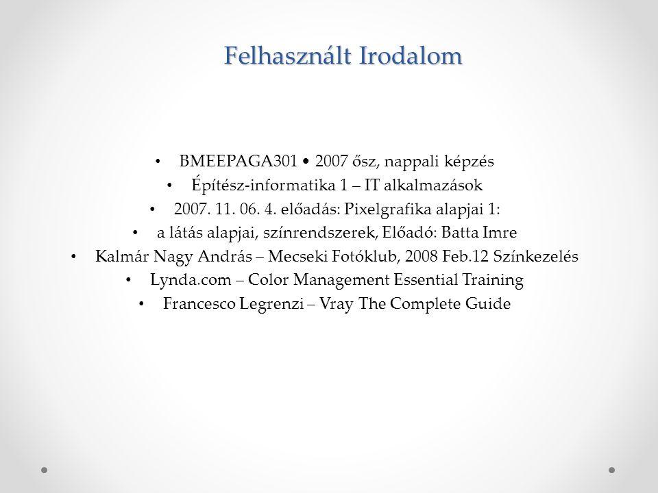 BMEEPAGA301 2007 ősz, nappali képzés Építész-informatika 1 – IT alkalmazások 2007.