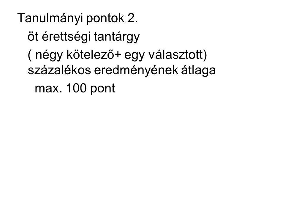 Tanulmányi pontok 2.