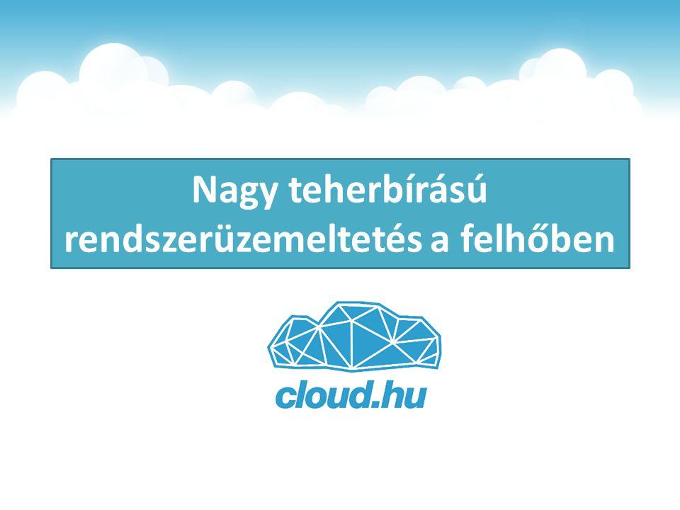 Nagy teherbírású rendszerüzemeltetés a felhőben