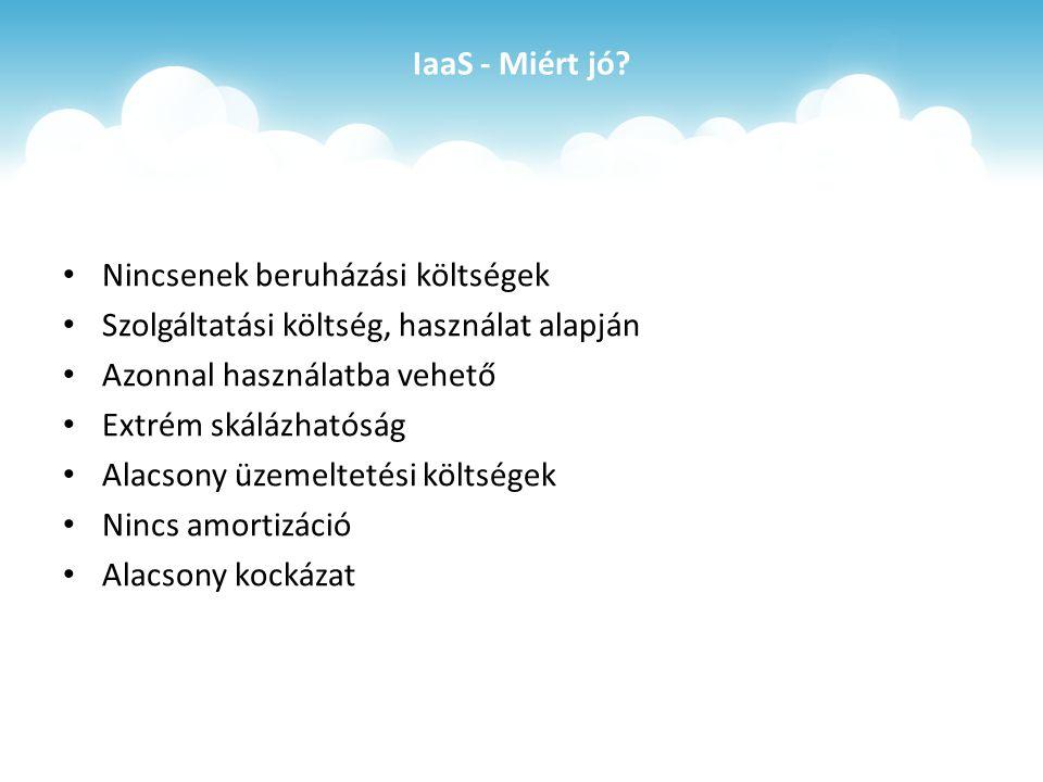 IaaS - Miért jó.
