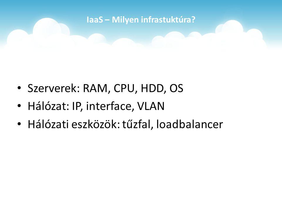IaaS – Milyen infrastuktúra.