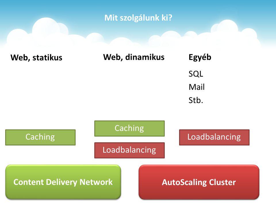 Mit szolgálunk ki. Web, statikus Egyéb SQL Mail Stb.