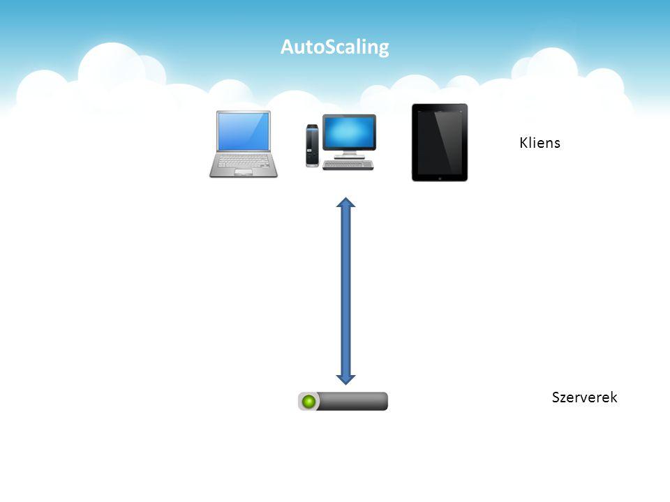 AutoScaling Szerverek Kliens