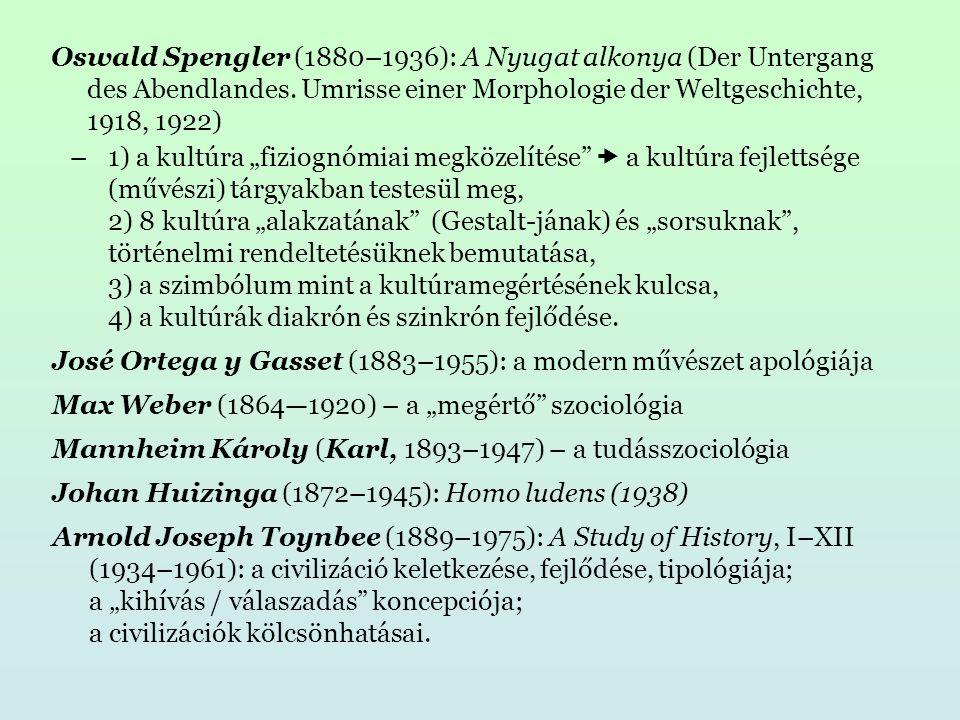 Oswald Spengler (1880–1936): A Nyugat alkonya (Der Untergang des Abendlandes.