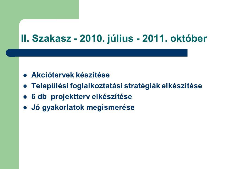 II.Szakasz - 2010. július - 2011.