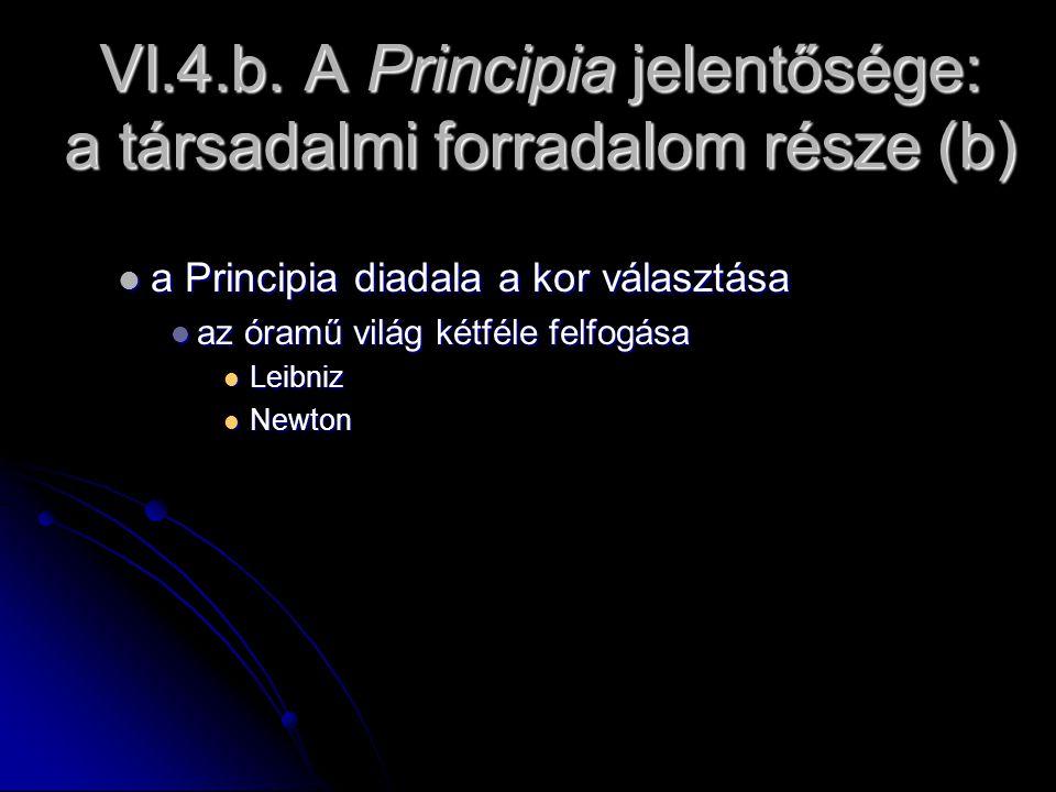 VI.4.b. A Principia jelentősége: a társadalmi forradalom része (b) a Principia diadala a kor választása a Principia diadala a kor választása az óramű