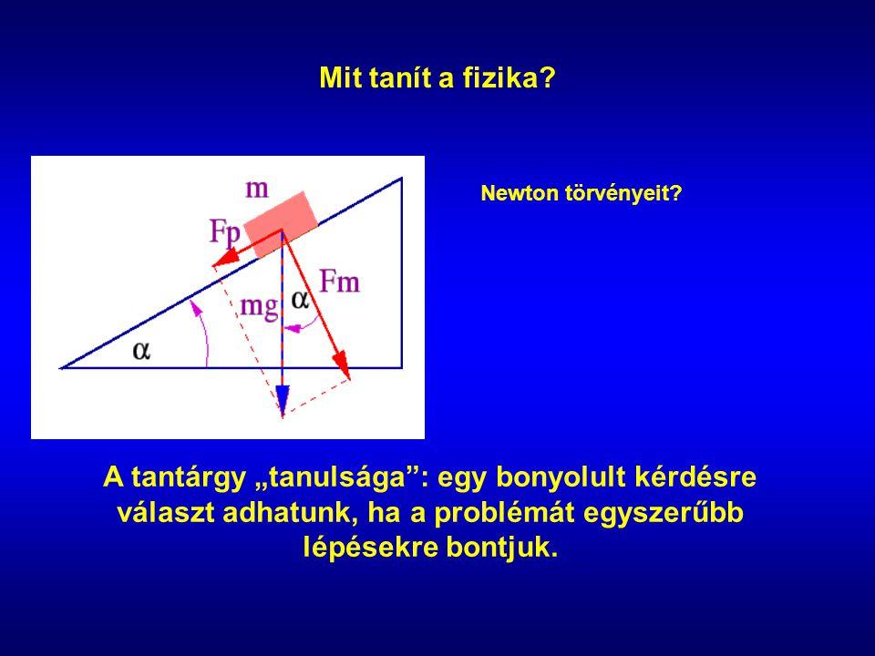 Mit tanít a fizika. Newton törvényeit.